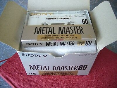 Cassettes Audio Vierge Sony Metal Master