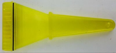 Yellow Plastic Ice Scraper Heavy Duty Rubber Squeegee Back Strip