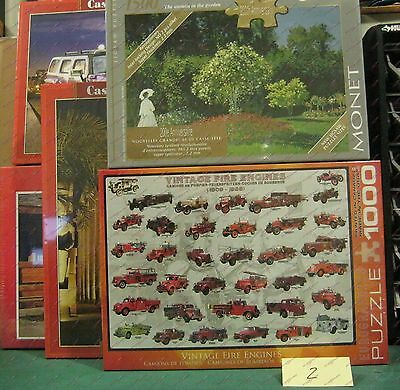 Assorted 1000 1500 Piece Puzzles Lot of Five Lot#2