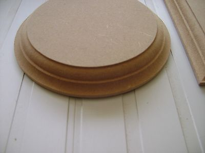 """Wooden MDF Circles Round craft plaques plinth 18mm thick  6""""  8"""""""