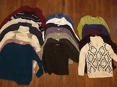 Lot Of 20 Women's Sweaters, Size Xl, Ny & Company, Croft And Barrow, And More!