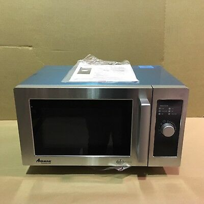 Amana RMS10DS 1000 Watt Commercial Microwave Oven Dial Timer Stainless Steel