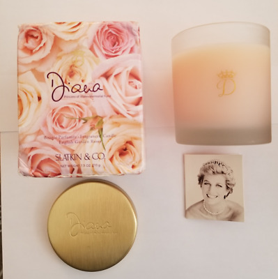 Slatkin & Co Princess Diana Candle in Original Box  Please Read Desc/See Photos