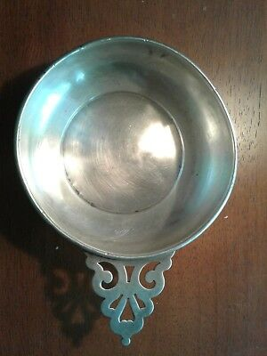 Vintage Amston 101 Sterling Silver Porringer Wine Taster Cup