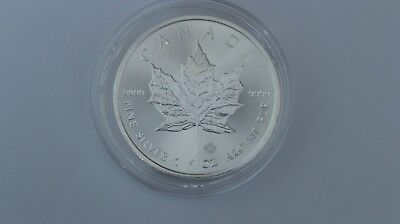 2015 Silver 1oz Canadian Fine Maple Leaf 9999 $5 Dollars Coin/Bullion