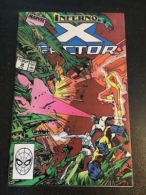 "X-factor#36 Incredible Condition 9.0 Simonson Art""Inferno""(1988) Awesome!!"