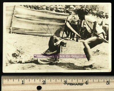 *Original ~ Prisoner Beheading Decapitation Execution Real Photo Japan - Warning