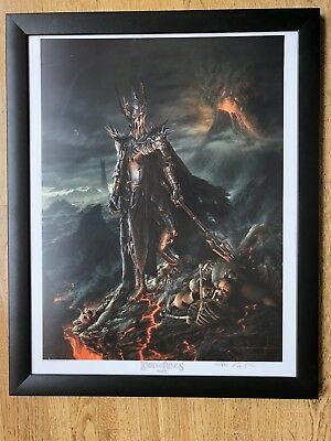 Art Print Board Sauron Vanderstelt Studio Lord Of The Rings Not Sideshow