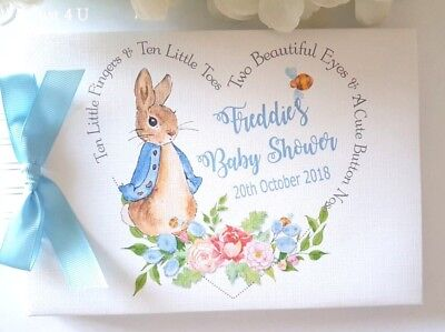 Personalised Peter Rabbit Baby Shower Guest Book / Scrapbook Album
