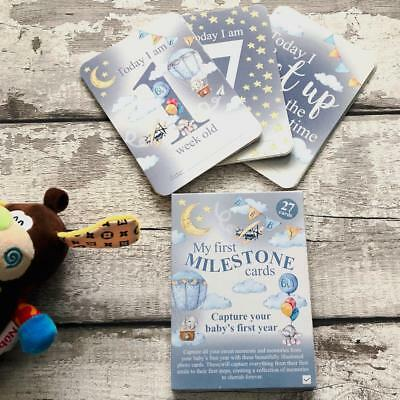 Baby Boy 27 Milestone Cards Baby Shower Gift BB0227-B