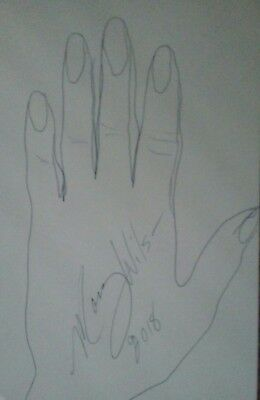 Hand tracing &  autograph by Singer of The Supremes : Mary Wilson