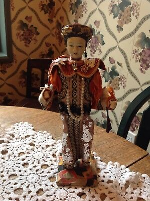 Beautiful Vintage Composition Chinese Female Doll