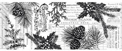 Idea-Ology Tim Holtz COLLAGE PAPER ~ FOREST ~ Christmas 6YD or 5.49 metres