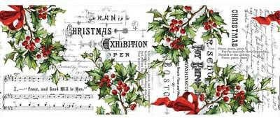 Idea-Ology Tim Holtz COLLAGE PAPER ~ HOLLY ~ Christmas 6YD or 5.49 metres