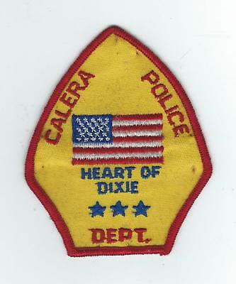 VINTAGE CALERA, ALABAMA POLICE DEPT. (CHEESE CLOTH BACK) patch