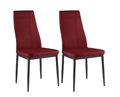 Kings Brand Furniture Dining Room Kitchen Side Chairs (Set of 2, Red)