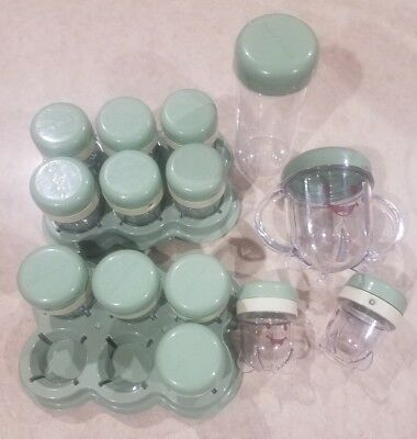 Baby Bullet Food Storage System Set of 12 Date Dial Cups and 2 Extra