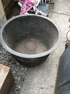 Large Antique Cast Iron Butchers Kettle Cauldron Boiling Pot - Planter Garden