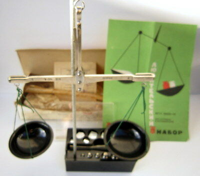 Vintage Russian/USSR Apothecary Scale Balance With Weights 1970's, NOS # 673