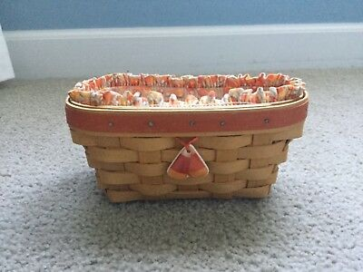 Longaberger Candy Corn Shaped Basket and Liner