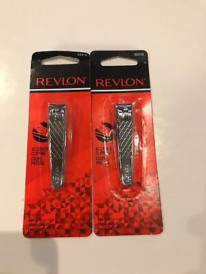 LOT OF 2 - REVLON NAIL CLIPPER WITH FILE ACCURATE CLIPPING free shipping
