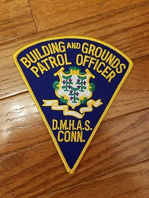Vintage collectible CT DHMAS police patch
