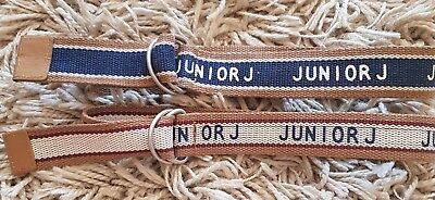 Boys Trendy Cool Junior J Jasper Conran Adjustable Pair of Belts