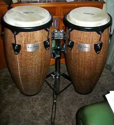 "Tycoon Percussion Congas 10"" & 11"" Island Palm Supremo Series STCS-BIP/D + Stand"
