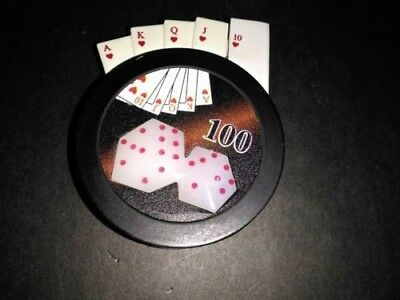 Poker Chip Dice Gambling Lighter -
