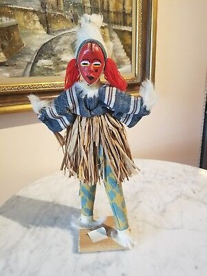 Dan Dancer Doll African Traditional Festival Made In Ivory Coast