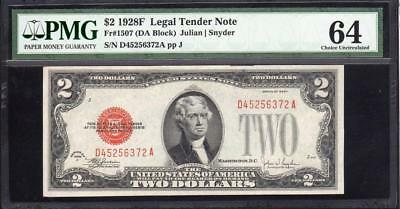 1928-F $2 Legal Tender *RED SEAL* PMG 64  Fr 1507    D45256372A