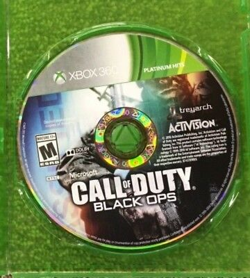 Call of Duty: Black Ops (Microsoft Xbox 360, 2010) GAME DISC ONLY ~TESTED~
