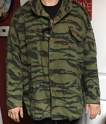 Military Style M-65 Cold Weather Field Coat Tiger Stripe Camo