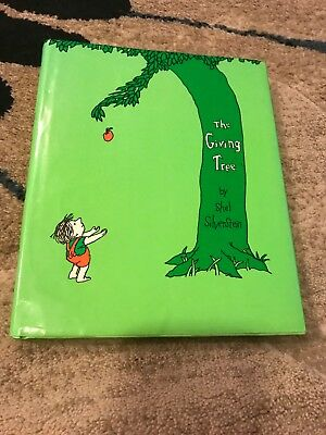 The Giving Tree by Shel Silverstein Illustrated Cloth Bound Hardback Collectible Antyki i Sztuka