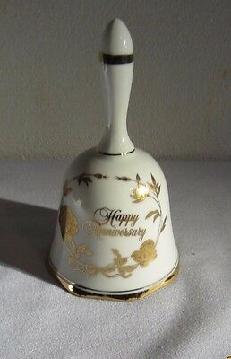 Collectible Vintage Norcrest Fine Porcelain Anniversary Bell Made In Japan