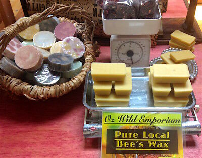 Australian Beeswax Unrefined Unbleached 387g Candle Lip Balm Food Wraps Cream