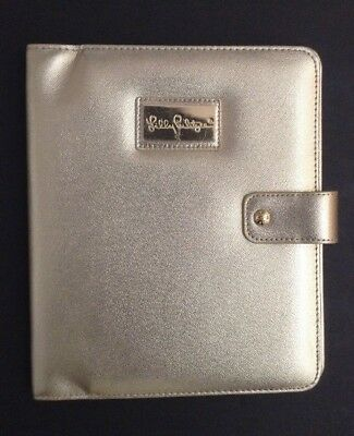 Lilly Pulitzer GOLD Agenda Folio Cover Leatherette~Large~Planner Organizer