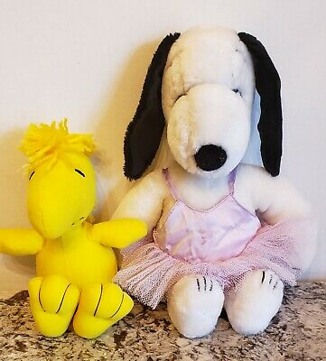 Vintage Peanuts Woodstock and Snoopy Plush United Feature Syndicate 1965-1972.