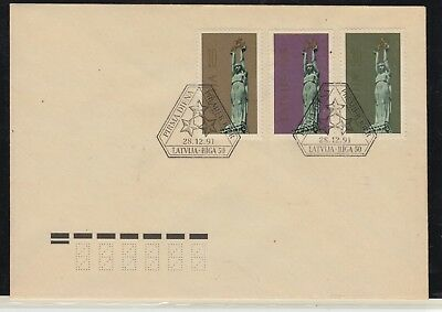 LATVIA 1991 Freedom Monuments FDC in Perfect Condition..