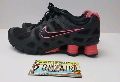 info for a206f b95db Nike Shox Turbo 12 Women s Black Pink Size 7.5 (454165 006) Running Training