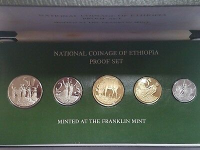 EE 1969 (1977) National Coinage of Ethiopia 5 Coin Proof Set (29C)