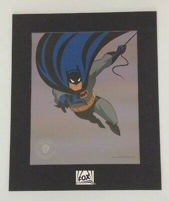 Batman Sericel special ed. Warner Bros. seal, matted with original envelope