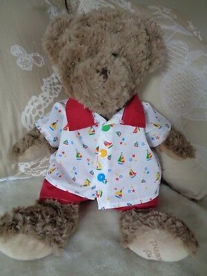 Clothes to fit boys Build a bear and Pumpkin Patch teddy shirt and shorts 15 in