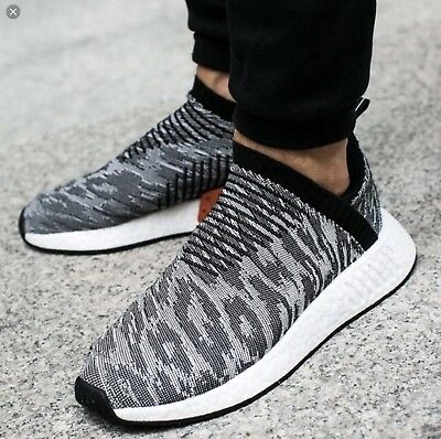 0c7ad07d2 ADIDAS ORIGINALS NMD CS2 Primeknit in Core Black Core Black Burgundy ...