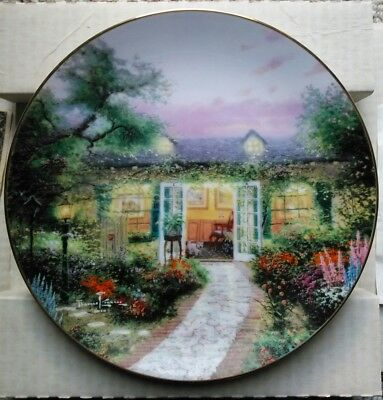 Thomas Kinkade Plate Our Summer collectors Home is Where the Heart Is 7