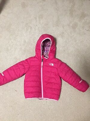 North Face Reversible Perrito Jacket Girls Size 18-24 Months