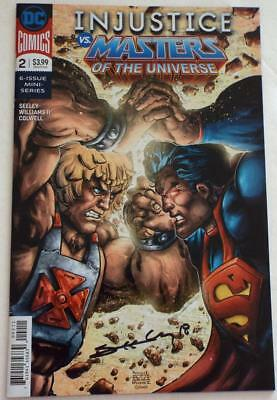 NYCC 2018 INJUSTICE VS MASTERS OF THE UNIVERSE # 2 SIGNED Tim Seeley