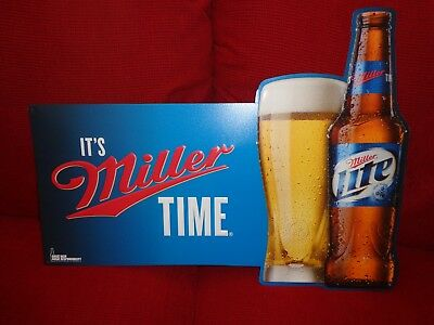 American Metal Embossed Beer Sign Miller Beer