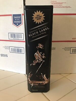Johnnie Walker Black Label Collectible - Rare Hard To Find Tin Case - Empty