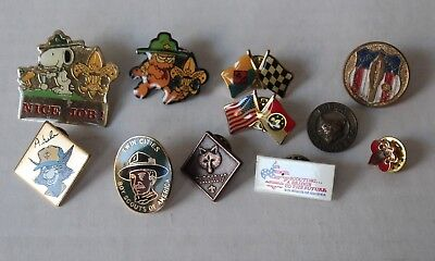 11 Boy Scout and Cub Scout Pins